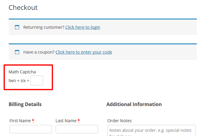 Math Captcha for WooCommerce - 6