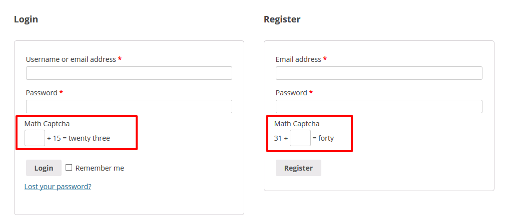 Math Captcha for WooCommerce - 3