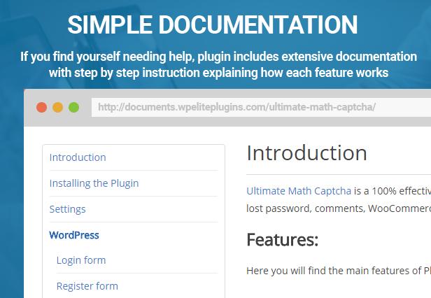 Ultimate Math Captcha - WordPress Plugin - 6