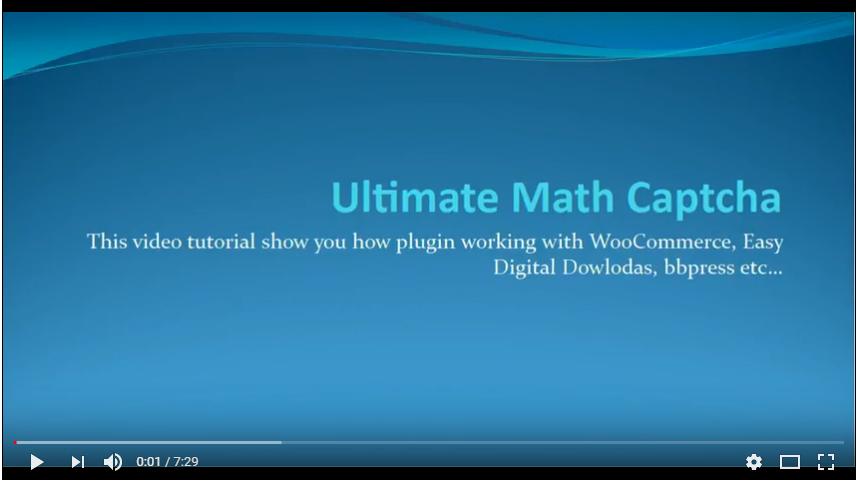 Ultimate Math Captcha - WordPress Plugin - 5