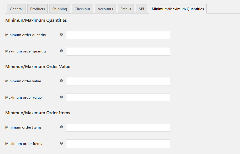 WooCommerce - Minimum/Maximum Quantities - 1