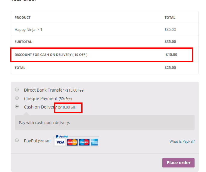 WooCommerce - Payment Gateways Discount and Fees - 3